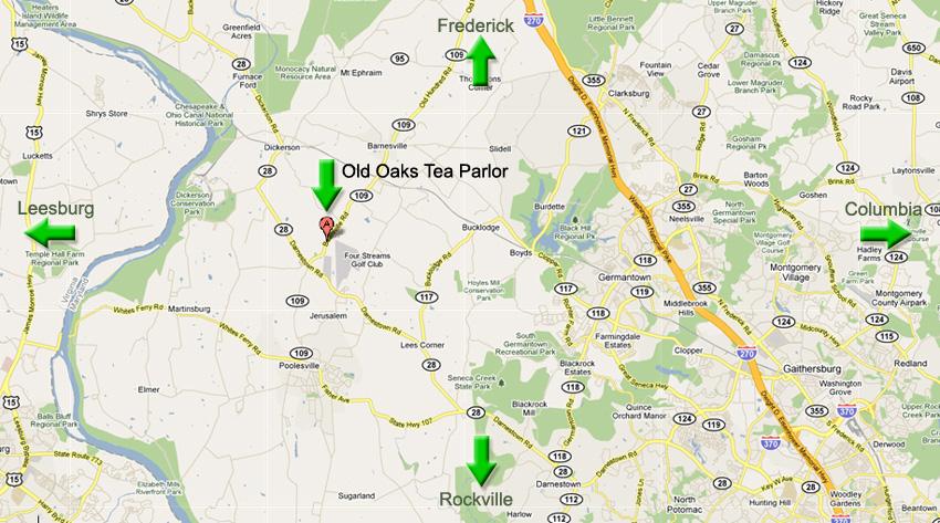 Old Oaks Tea Parlor - Contact Us